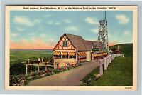 East Windham NY, Point Lookout, Mohican Trail, Catskills Linen New York Postcard
