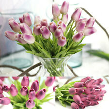 Wedding Tulip Latex PU Artificial Flower Leaf Home Decor Party Supplies DIY
