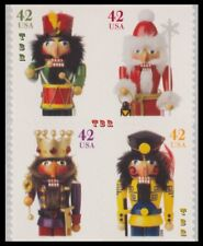 Holiday 2008 Nutcrackers 4360-63 4363a Block 8 Double Sided Pane MNH - Buy Now