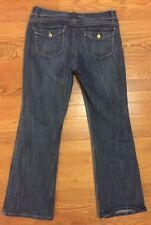 CAbi Flare Jeans - Size 8 - Dark Wash Low Rise Style 638R Z2
