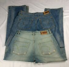 2 Pc. Lot Indigo Red 34x33 STANLEY & Ricky Classic Fit Relaxed Leg Blue Jeans