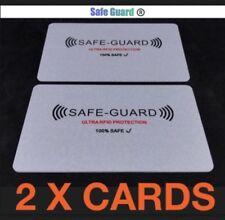 2x protector de seguridad ® RFID tarjeta de crédito/débito Inalámbrico Illegal bloqueador, 2 Tarjetas Incluido