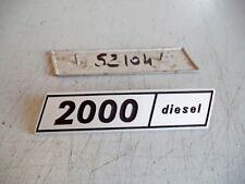 "FIAT 132- FREGIO-LOGO-SIGLA-SCRITTA (BADGE) 2000 DIESEL  """" ALLUMINIO"