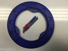 "Hiper 9"" Modified Bead Lock Ring Wheel Ring CF1/Tech 3 Blue Beadlock Mud Plug"