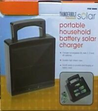 Solar Battery Charger Portable Household AA, AAA, C, D and 9V