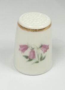 dé à coudre en porcelaine ,thimble,vingerhoed, fleurs  *12-D