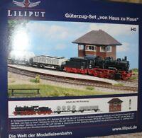 HS Liliput L130099 Güterzug Set BR 56 2 Wagen Stellwerk A/c Wechselstrom dig