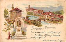 AK Litho. Souvenir de Freibourg Suisse Schweiz Postkarte vor 1920