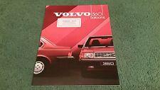 1984 VOLVO 360 GLE & GLE INJECTION 4 DOOR SALOON - UK BROCHURE