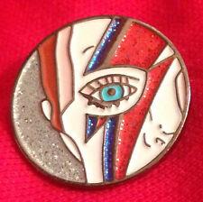 David Bowie  Aladdin Sane Design Enamel Brooch Pin Badges