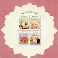 Singapore 2019 MNH Traditional Confections Cakes Sweets 4v M/S Gastronomy Stamps