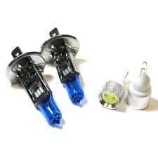 MG MG ZS H1 501 55w ICE Blue Xenon HID Low Dip/Slux LED Side Light Bulbs Set