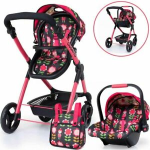 Brand new Cosatto Me Mo Dolls pram in Fairy Garden with matching Car seat & bag