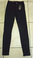 "New Look Platinum Denim Premium Disco Jeans Size 8 Leg 32"" BNWT RRP £38.98 Black"