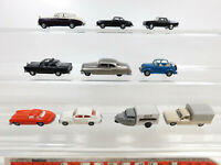 CA590-0,5# 10x Praline 1:87/H0 PKW etc: Cadillac+Peugeot+Opel+Volvo+VW+MB etc
