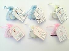 25 x 1st Holy Communion DIY Organza bag, Candle & Personalised Tag Favours
