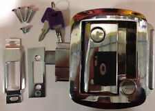 RV Entrance Lock, Paddle Lock W/ Deadbolt Polished Chrome