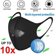 10pcs Breathable Washable Dust Black Unisex Adult Reusable