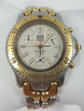 TAG Heuer SEL SWISS Chronograph Two Tone Stainless Steel Men's Watch S35.006M