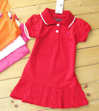 Kids' Girls tennis skirt Short-sleeved T-shirt dress 8 Color 6M-12Y