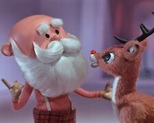 SANTA CLAUS Rudolph The Red Nose Reindeer 1964 Movie TV 8x10 Color Photo - Wow!