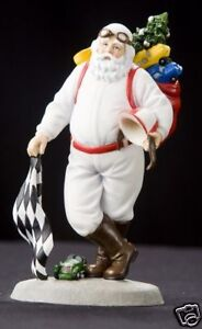 "Pipka ""Santa's Speedway"" 2009 (Retired) 6"" Vintage-style Race Car Santa Figure"