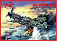 MESSERSCHMITT Bf 109 F-4 B (JG 2, JG 26, JG 51 & JG 54 MARKINGS)#48104 1/48 ICM