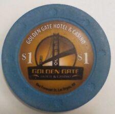 $1 Golden Gate Casino Poker Chip Las Vegas NV, Downtown