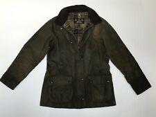 Barbour BEADNELL Ladies Waxed Wax Cotton Sage Green Jacket Coat Size UK 10 USA 6