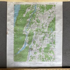 1950 Whitehall Quadrangle New York Vermont Vintage USGS Topographic Topo Map