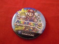 Mario Party 5 Nintendo Gamecube Promotional Button Pin Back Promo