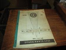 CZ 1965 453 450 445 Spart Parts List Catalog
