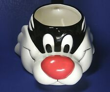 Warner Brothers Looney Tunes Sylvester the Cat Ceramic Mug Applause 1989