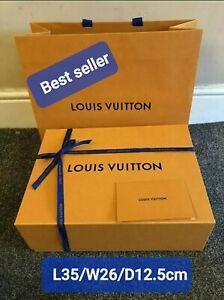 L35/W26/D12.5cm(no.8) LV Louis Vuitton Gift Box With Bag ribbon set