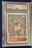 1996-97 Topps Chrome #182 Steve Nash Phoenix Suns RC Rookie PSA 8
