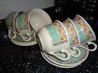 *****JOB LOT***** CHURCHILL PORTS OF CALL KABUL CUPS AND SAUCERS X 24