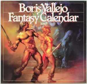 Boris Vallejo - Fantasy - Calendar / Kalender 1986 - WORKMAN PUBLISHING