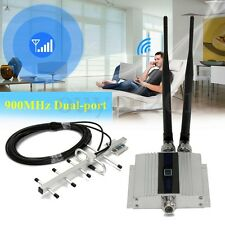 LCD 900Mhz Cell Mobile Phone Signal GSM Repeater Booster Amplifier +Yagi Antenna