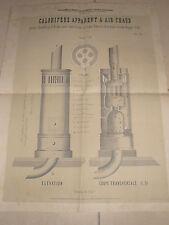 affiche ancienne chauffage  ( ref 4 )