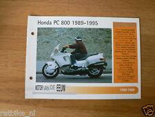 MVE34- HONDA PC800 1989-1995  MINI POSTER AND INFO MOTORCYCLE,MOTORRAD
