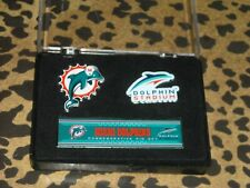 Miami Dolphins Commemorative Pin Set in Collector Display Case