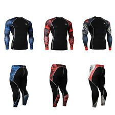 FIXGEAR Skin-tight Compression base layer Under shirt pants SET training 1