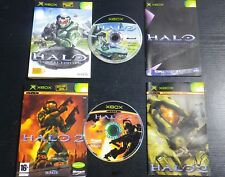LOT 2 JEUX Microsoft XBOX : HALO Combat Evolved + HALO 2 (complet, envoi suivi)