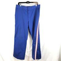 Vintage 1960s-70s Era Busch Beer Worker Pants Rare Blue Scovill Talon Workwear