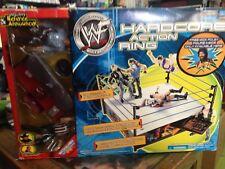 WWF Hardcore Action Ring Bonus Exclusive Playset WWE RARE Mick Foley Jim Ross