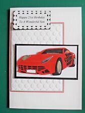 Personalised Handmade Birthday/Driving Test Card  Sports Car