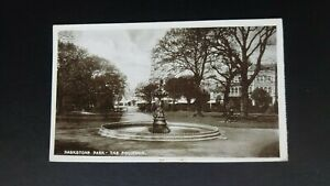 Parkstone Park, The Fountain, Poole - Sargeant Bros Real Photo Postcard