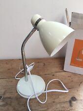 PRELOVED IVORY ENAMEL STUDY TABLE LAMP - SMALL DESK LIGHT