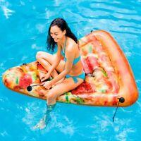 Intex 58752 Materasso Acqua Piscina Pizza 175x145 Cm Stampa Realistica