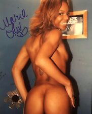 Marie Luv Adult STAR Hand SIGNED 8X10 PHOTO AUTOGRAPH Sexy brunette booty Rare